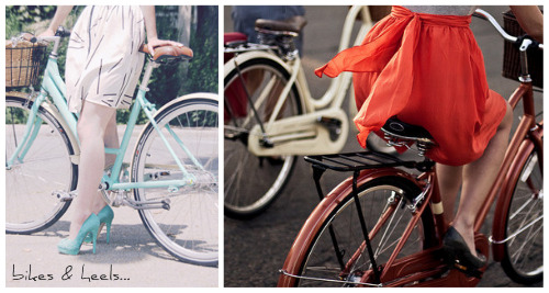 bikes and heels1 My love affair with Schwinn
