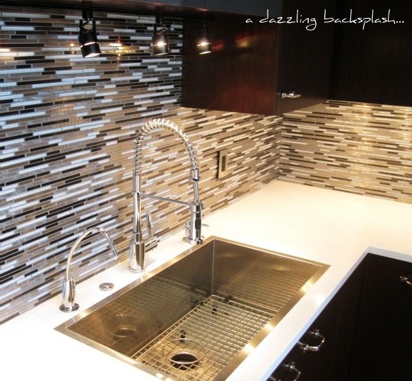 backsplash Small Kitchen Design by Julie DeJardin