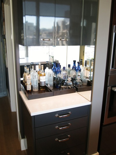 bar no reflection Small Kitchen Design by Julie DeJardin
