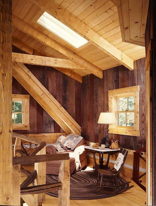 6 honey wood barn planks e1290575500335  Cozy Winter Cabin