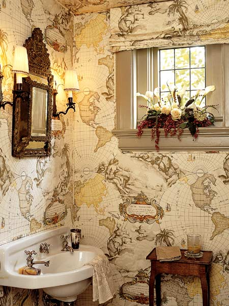 Map In Small Bathroom Poetic Downsizing