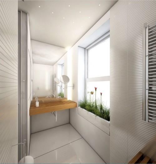 04 bagno verso lavabo bigger e1312396856389 Small Spaces : A Jewel Box of Ideas