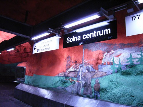 R0014994 e1320874280637 Subway Art: Stockholms underground museum