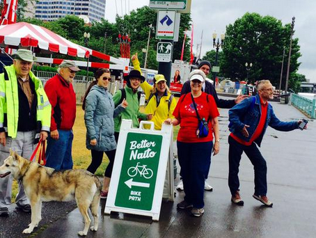 "volunteers on ""trial walk"""