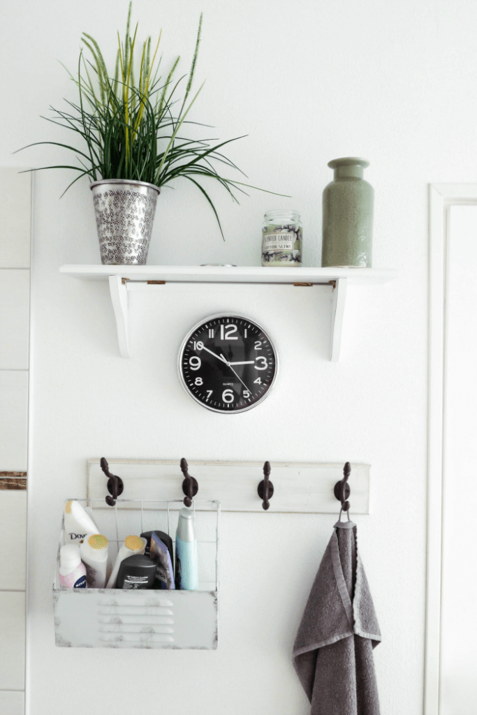 Bathroom hooks for a small space