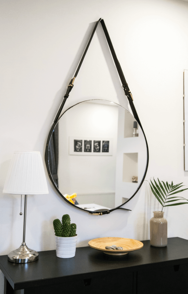Mirrors make small spaces look larger