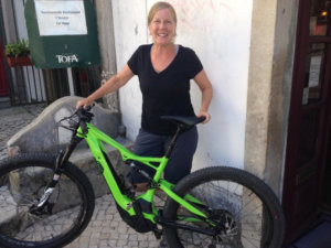 Candace Kramer with her E-bike
